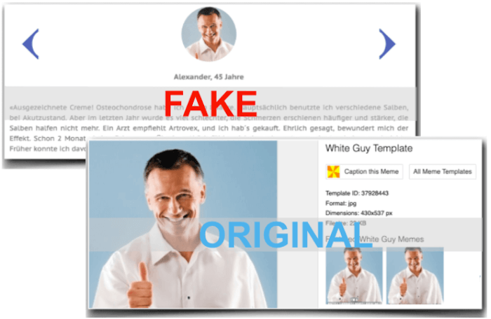 Another Fake and Original Screenshot from Customers