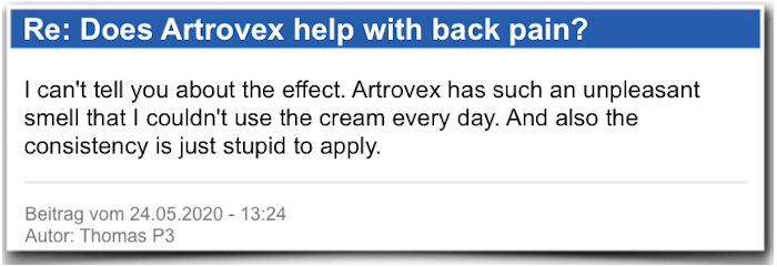 Artrovex Field report Evaluation Criticism Artrovex