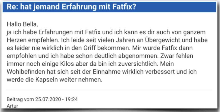 Fatfix Erfahrungsbericht Bewertung Kritik Fatfix