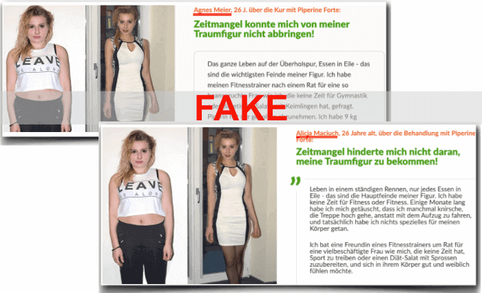 Piperine Forte Fake Testimonials