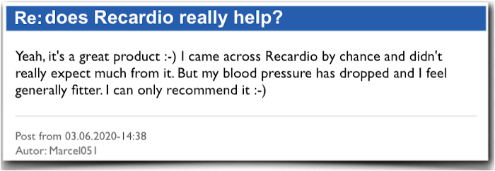 Recardio Experience report evaluation criticism Recardio