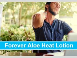 forever aloe heat lotion test