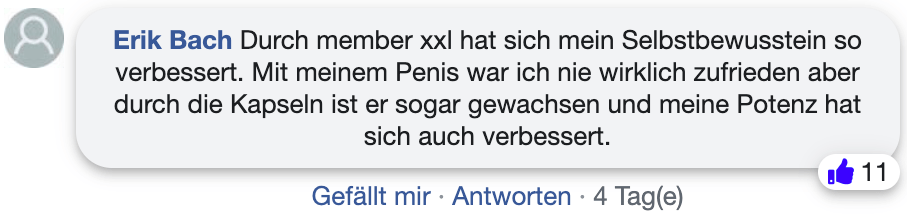 Member xxl Erfahrungsbericht Erfahrung facebook