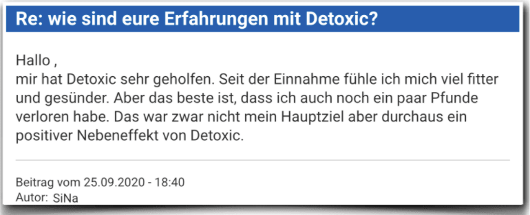 Detoxic Erfahrungsbericht Bewertung Kritik Detoxic