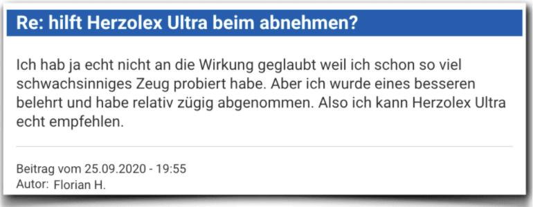 Herzolex Ultra Erfahrungsbericht Kritik Bewertung Herzolex Ultra