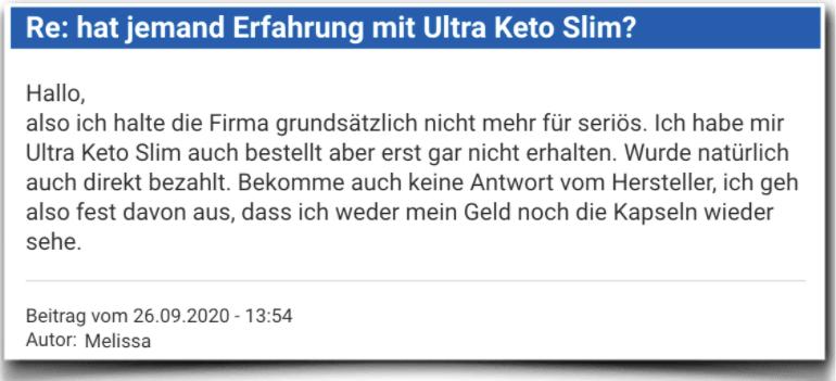Ultra Keto Slim Erfahrungsbericht Bewertung Kritik Erfahrungen