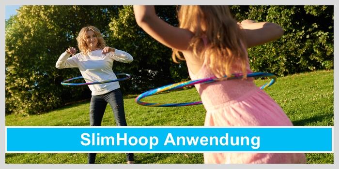 slimhoop anwendung mutter tochter hula hoop training