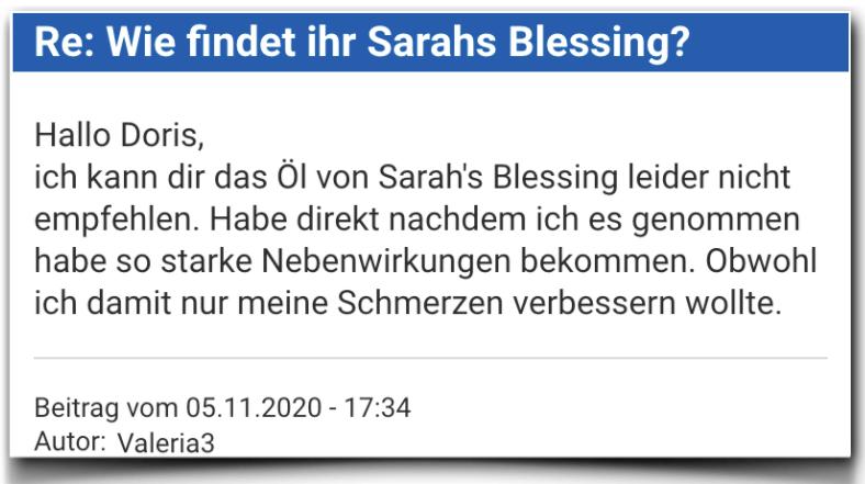 Sarahs Blessing Bewertung Erfahrungsbericht Sarahs Blessing