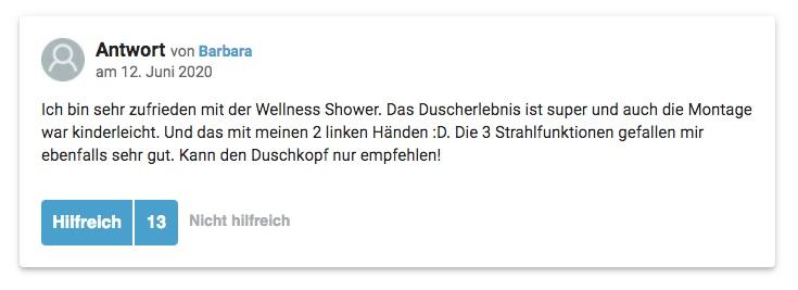 wellness shower erfahrung bewertung