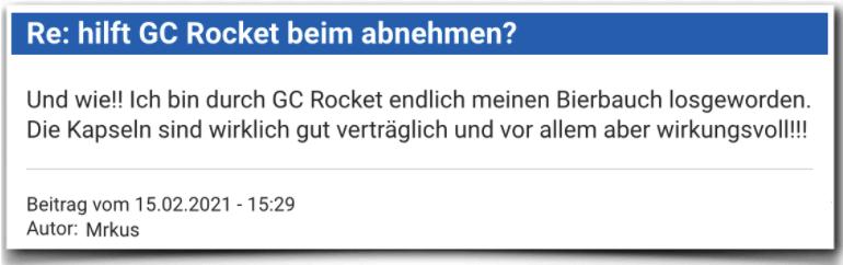 GC Rocket Erfahrungsbericht Bewertung Erfahrungen GC Rocket