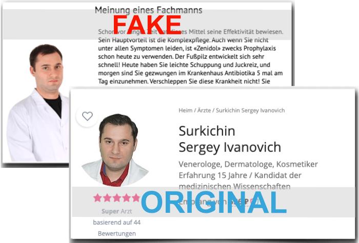 Zenidol Fake Arzt